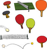 Ping Pong Game Set Royalty Free Stock Photography