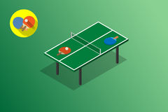 Ping pong green table tennis vector illustration Stock Images