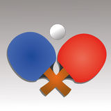 Ping pong. Icon on gradient gray background Stock Image