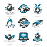 Ping pong icon set - 2 Stock Photos