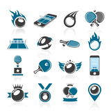 Ping pong icon set Royalty Free Stock Image