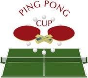 Ping-pong - insignia Fotografía de archivo libre de regalías