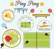 Ping Pong Lables Set också vektor för coreldrawillustration Fotografering för Bildbyråer