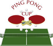 Ping-pong - logo Photographie stock libre de droits