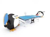 Ping-Pong Match Stock Photography