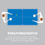 Ping pong match. Table tennis player. Royalty Free Stock Image