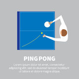Ping pong. Match. Table tennis player. Sport design over gray background, vector illustration Stock Photography