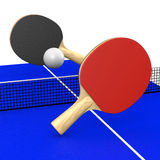 Ping-Pong Match Royalty Free Stock Photo