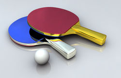 Ping Pong Metal Bats Royalty Free Stock Images
