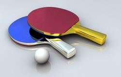 Ping Pong Metal Bats Royalty Free Stock Images