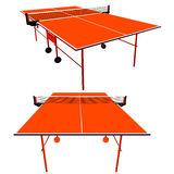 Ping pong orange table tennis. Vector illustration Stock Image
