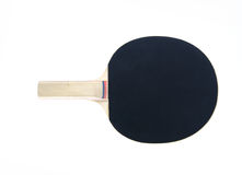 Ping pong paddle. A black ping pong paddle on a white background Stock Photo