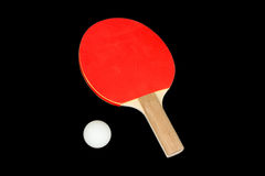 Ping Pong Paddle and Ball Stock Photography