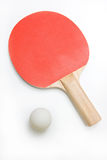Ping Pong Paddle and Ball Stock Image