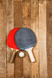 Ping pong paddle and ball Royalty Free Stock Image