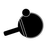 Ping pong paddle ball pictogram Stock Photos