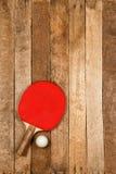 Ping pong paddle and ball Stock Image