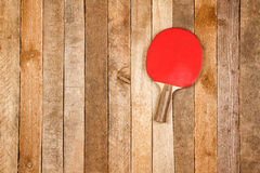 Ping pong paddle and ball Royalty Free Stock Images