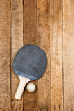Ping pong paddle and ball Royalty Free Stock Photo