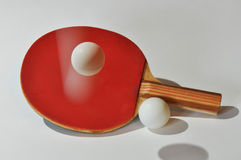 Ping Pong Paddle and Balls Royalty Free Stock Images