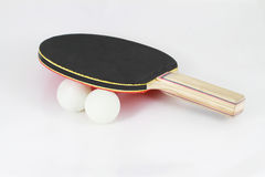 Ping pong paddle with balls Stock Images