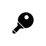 Ping pong paddle vector icon Royalty Free Stock Image