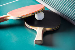 Ping pong paddles Stock Photography