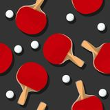 Ping Pong pattern. Vector illustration Royalty Free Stock Images