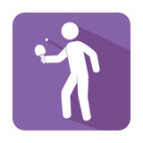 Ping pong player avatar Royalty Free Stock Photo