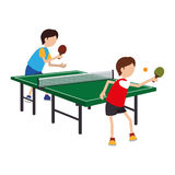 Ping pong player avatar Royalty Free Stock Image