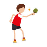 Ping pong player avatar Stock Photos