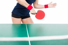 Ping pong player hitting the ball Royalty Free Stock Images