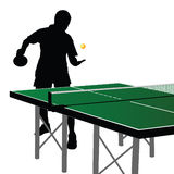 Ping pong player silhouette nine Stock Photography