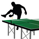Ping pong player silhouette 1 Stock Photos