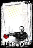 Ping pong poster background 2. Sketching of the ping pong poster background Stock Images