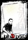 Ping pong poster background 3. Sketching of the ping pong poster background Royalty Free Stock Photos
