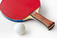 Ping-pong racket and ball Royalty Free Stock Image