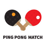 Ping Pong racket and ball. Stock Photos