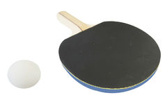 Ping pong racket and ball Royalty Free Stock Photography