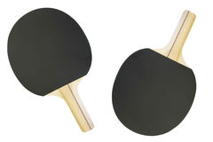 Ping pong racket and ball Stock Photos
