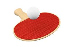 Ping-pong racket and ball Royalty Free Stock Photo