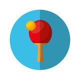 Ping pong racket isolated icon Royalty Free Stock Image