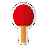 Ping pong racket isolated icon Stock Photo