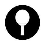 Ping pong racket isolated icon Royalty Free Stock Photo