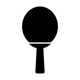 Ping pong racket isolated icon Royalty Free Stock Images