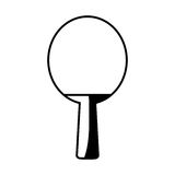 Ping pong racket isolated icon Royalty Free Stock Photos