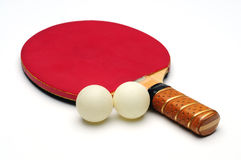 Ping Pong Racket with two tennis ball Stock Photos