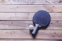 Ping pong racket Royalty Free Stock Photography