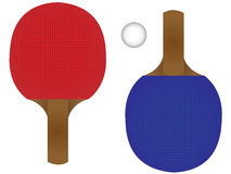 Ping Pong Rackets Stock Photography