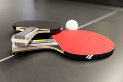 Ping pong rackets Royalty Free Stock Images